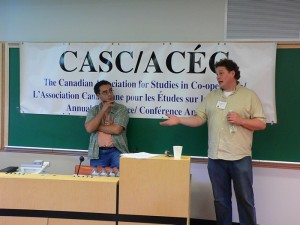 Jorge and J.J. lead the constitution update discussion at CASC 2008